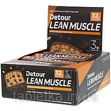 Detour, Lean Muscle Bar, Cookie Dough Caramel Crisp, 12 Bars, 3.2 oz (90 g) Each