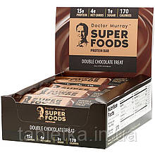 Dr. Murray's, Superfoods Protein Bars, Double Chocolate Treat, 12 Bars, 2.05 oz (58 g) Each