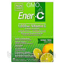 Ener-C, Витамин C, шипучий растворимый порошок для напитка со вкусом лимона и лайма, 30 пакетиков, 10,1 унции