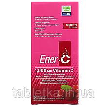 Ener-C, витаминC, смесь для приготовления мультивитаминного напитка со вкусом малины, 30пакетиков, 277г