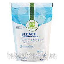 Grab Green, Альтернативные капсулы для отбеливания, без запаха, 24 стирки, 432 г (15,2 унции)