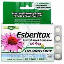 Nature's Way, Esberitox, Supercharged Echinacea, 200 жевательных таблеток