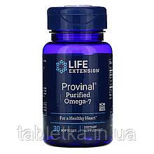 Life Extension, Provinal, очищенная форма омега-7, 30мягких таблеток