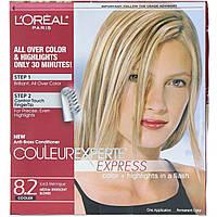 L'Oreal, Couleur Experte Express, краска для волос с эффектом выгоревших прядей, оттенок 8.2 «Сияющий блонд», на 1 применение