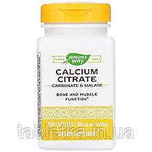 Nature's Way, Calcium Citrate, 500 mg, 100 Capsules