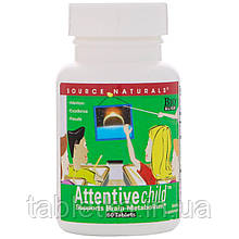 Source Naturals, Attentive Child, 60 таблеток