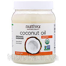 Nutiva, Органическое кокосовое масло, рафинированное, 1,6л (54жидк.унции)
