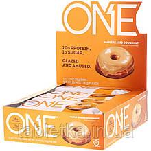 One Brands, ONE Bar, Maple Glazed Doughnut, 12 Bars, 2.12 oz (60 g) Each