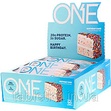 One Brands, ONE Bar, Birthday Cake, 12 Bars, 2.12 oz (60 g) Each