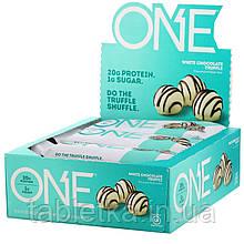 One Brands, ONE Bar, White Chocolate Truffle, 12 Bars, 2.12 oz (60 g) Each