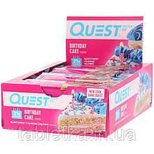 Quest Nutrition, Quest Protein Bar, Birthday Cake, 12 Pack, 2.12 oz (60 g) Each