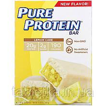 Pure Protein, Батончик с лимонным кексом, 6шт., 50г (1,76унции) каждый