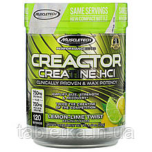 Muscletech, Performance Series, CREACTOR, Creatine HCI, Lemon-Lime Twist, 8.40 oz (238 g)