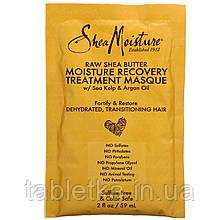SheaMoisture, Raw Shea Butter, Moisture Recovery Treatment Masque with Seal Kelp & Argan Oil, 2 fl oz (59 ml)
