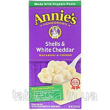 Annie's Доморощені, Черепашки і білий чеддер, Макарони з сиром, 6 унцій (170 м)