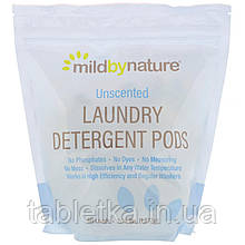 Mild By Nature, Капсулы со стиральным порошком, без запаха, на 60загрузок, 1077г (2,38унции)