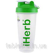 IHerb Goods, бутылка-шейкер с шариком для смешивания, зелёный цвет, 28 унций