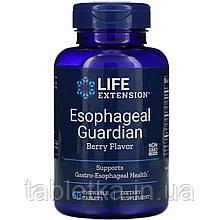 Life Extension, Защита пищевода, с натуральным ягодным вкусом, 60 жевательных таблеток
