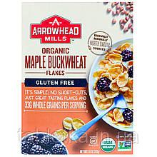Arrowhead Mills, Органические хлопья с кленовым сиропом и гречихой, безглютеновые, 10 унций (283 г)