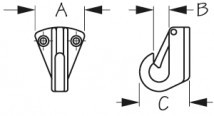 Крюк с фиксатором 32 мм