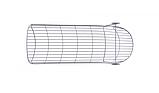 Шезлонг лежак дизайнерский Tidal металлический, фото 5