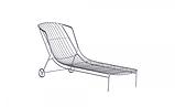 Шезлонг лежак дизайнерский Tidal металлический, фото 7
