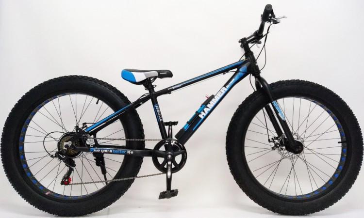"""Фэтбайк Горный велосипед S800 Hammer Extrime Колёса 26''х4,0"""". Алюминиевая рама 15"""""""