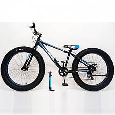 """Фэтбайк Горный велосипед S800 Hammer Extrime Колёса 26''х4,0"""". Алюминиевая рама 15"""", фото 2"""
