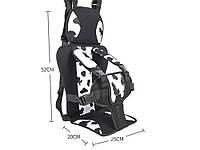 Крісло бескаркасное автомобільне до 12 років дитяче Білий