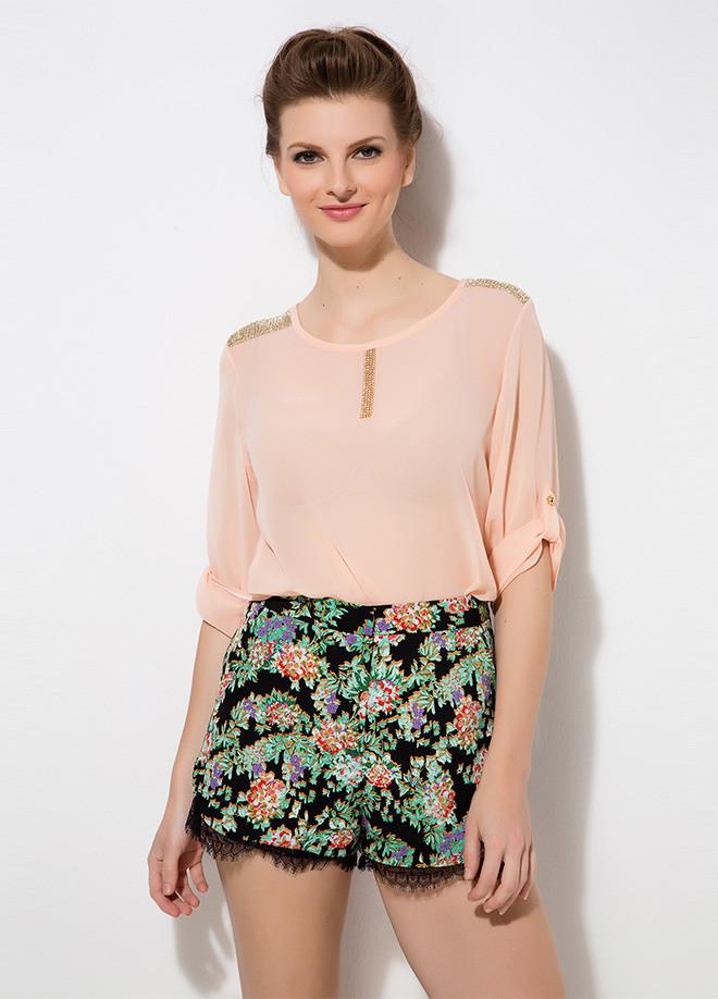 Пудрова жіноча блузка MA&GI