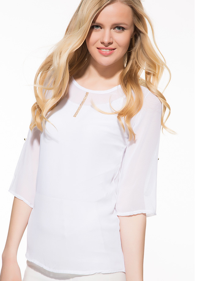 Біла жіноча блузка MA&GI