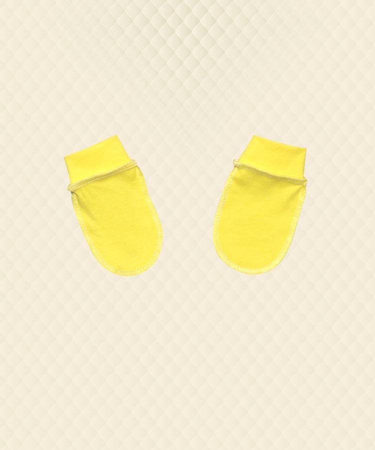 Рукавички ясельные желтый кулир