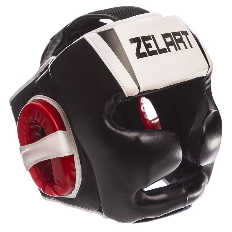 Шлем боксерский с полной защитой PU ZELART (р-р M-XL)