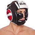 Шлем боксерский с полной защитой PU ZELART (р-р M-XL), фото 2