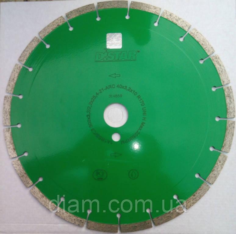 Алмазный диск для резки гранита Distar UNIVERSAL 300x3,2/2,2x10x32-21 UNI H - Интернет-магазин Diam в Харькове