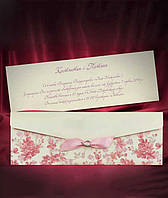 Пригласительные с цветочным узором в розовых тонах, свадебные приглашения, печать текста, заказать