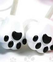 Детские наушники кошачьи лапки белые и голубые