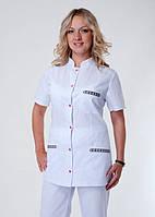 """Медицинский костюм женский """"Health Life"""" х/б с вышивкой 2253"""
