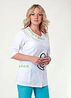 """Медицинский костюм женский """"Health Life"""" х/б с вышивкой 2254"""