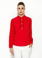Красная женская блуза MA&GI с жабо