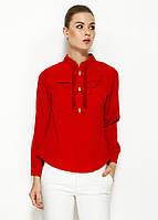 Красная женская блузка MA&GI с бантиками, фото 1