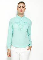 Голубая женская блузка MA&GI с бантиками, фото 1