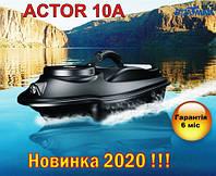 Прикормочный кораблик Boatman ACTOR 10A для рыбалки, завоза прикормки, наживки 2 бункера, 2 скорости, фото 1