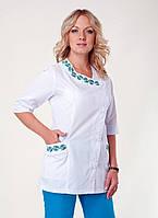 """Медицинский костюм женский """"Health Life"""" х/б с вышивкой 2255"""