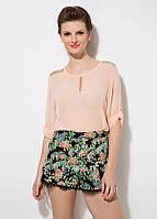 Женская персиковая блуза MA&GI