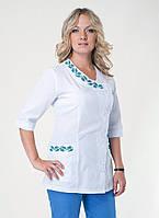 """Медицинский костюм женский """"Health Life"""" х/б с вышивкой 2256"""