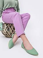 Балетки женские бирюзового цвета