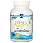 Рыбий Жир, Вкус Лимона, Nordic Naturals, Ultimate Omega, 1000 мг, 60 мягких капсул
