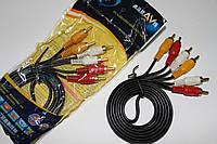 Видео-Аудио кабель 3RCA в упаковке Качество
