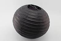 Бумажный подвесной фонарик, черный, 25 см